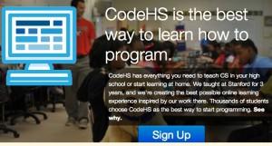 CodeHS è un vero e proprio programma didattico