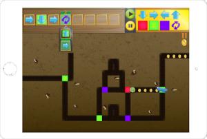 """Una schermata di """"gioco"""" di Kodable"""